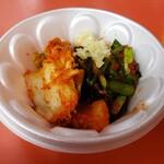 金龍ラーメン - キムチ、ニラ、大蒜