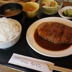 洋食屋 グリル ラパン - メンチカツ御膳(ライス大盛)
