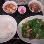 14590922 - ピーマン竹の子豚肉炒め定食