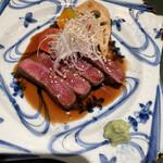 板前割烹 ひぐち - 牛ひれ肉の山葵ソース