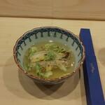 Haramasa - 焼穴子と餅米の餡掛け