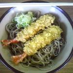 そば処 増毛駅 - 冷たい天ぷらそば 700円
