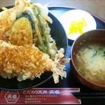 天壱 - タレ天丼 520円 CP高い