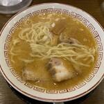 きたかた食堂 - 多加水平打ち縮れ中太麺