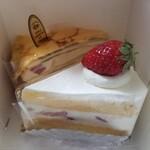 145926094 - ショートケーキとミルクレープ