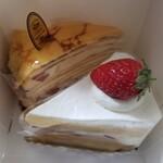 145926096 - ショートケーキとミルクレープ