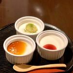 145926623 - 椛やセット 椛 デザート(自家製豆腐でつくったブラマンジェ)