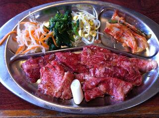 焼肉 えん - えん定食のお肉