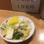 天丼ふじ - おしんこ100円
