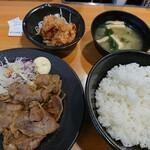 東京チカラめし - しょうが焼き定食&追加から揚げ