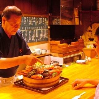 大漁桶発祥の店!15種以上の市場直送鮮魚をお好みの調理法で!