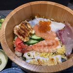 吾妻 - 海鮮チラシ寿司のアップ