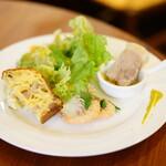 イル ボッチョーロ - Pranzo A (¥1,280) 前菜盛り合わせ