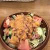 スパゲティながい - 料理写真:ベーコンサラダ500円。炒めたてのベーコン、シャキシャキ生野菜、絶妙なドレッシングが素晴らしく、パスタではなくサラダをタイトルにしてしまうほど、とーっても美味しかったです(╹◡╹)(╹◡╹)