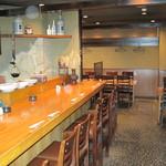 瀬戸内魚料理かねも - 1階のカウンターは一度は座ってみたい特等席!2名で行くならこのお席がおすすめ。ただ、人気のため、予約がベスト