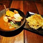 スープカレー KIFUKU - 骨付きチキンと10品目野菜スープカレー
