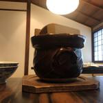 飛騨牛グリルばくろ - 土鍋炊きごはん(筍と五穀米)