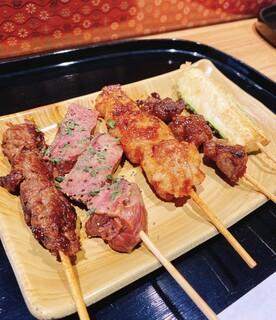 京の焼肉処 弘  - おまかせ5本盛り