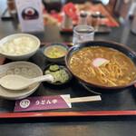うどん市 - 料理写真:カレーうどん&小ライス♪