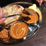 居酒屋インドカレー アジア料理チャンドラマ - マトンカレーのマトン(この他もう一つ入っていました)