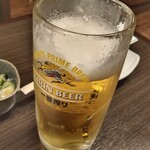 居酒屋 白ヒゲ - 生ビールを一杯。