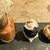 小さな料理店 森乃くじら荘 - 料理写真:ピンチョス3種、そら豆入りシュークリーム、えび・イカスミのあげぱん・マッシュポテト、鱈とじゃがいもの野菜ソース。