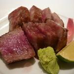 割烹 橋本 - 料理写真:☆黒毛和牛の炙り焼き(≧▽≦)/~♡☆