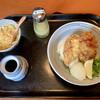麦きり トクオカ - 料理写真:かしわ天ぶっかけうどん(麺冷)