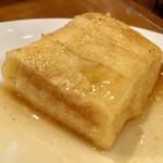 ヤマモト - フレンチトースト(メープルシロップ塗布後の断面)