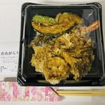 青山 がらり - 「大海老天丼」1,000円税込み