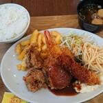 洋食の太陽 - ミックスフライセット A 1,170円 全景