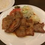 ぐりる樹林亭 - 豚ロース生姜焼きランチ