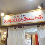 肉の佐藤 ジンギスカンとラムしゃぶ店 - 看板