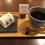 クラクションコーヒーロースターズ - 料理写真:豆大福とグァテマラブレンド