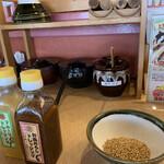 Tonkatsukatsugen - テーブルの上
