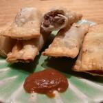 Niru - ラムと林檎の揚げパイ 自家製ハリッサ