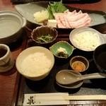 sushinihonryourisawada - 黒豚しゃぶしゃぶ御膳(1,300円)