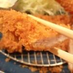 薩摩 茶美豚 とんかつ 花 - ヒレカツUP!!ヒレ肉は柔からです♪