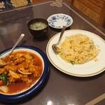 中華料理 萬彩 - 料理写真:酢豚 定価 880円(税込)、炒飯 定価 680円(税込)