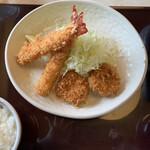 Tonkatsumurahachi - 海老フライとヒレカツ
