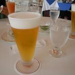 サンルーム - ドリンク写真:チェックイン前に生ビール!