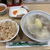あづま - 料理写真:シチューうどん かやく御飯の小 ハムエッグ