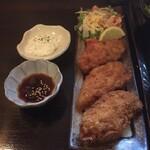 お寺 - 単品。広島産牡蠣フライ3個570円