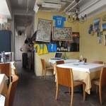 ナポリ、アマルフィ料理 Ti picchio - 入口横に厨房