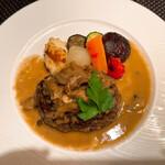ラ ターブル エディアール - エディアールフレンチハンバーグ グリル野菜とマッシュポテト添え