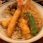 蕎麦わび介 - 特上天丼アップ