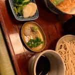 蕎麦わび介 - 香物、薬味