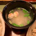 蕎麦わび介 - 味噌汁