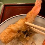 蕎麦わび介 - 車海老天ぷらアップ