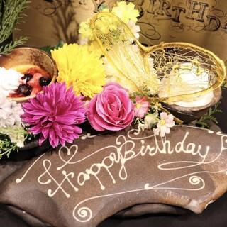 記念日・誕生日のご利用のお客様必見!ほむらのデザートプレート